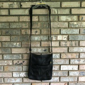 The SAK 'Iris' Black Pebbled Leather Crossbody Bag